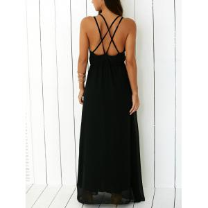 Criss Floor Length Open Back Prom Dress