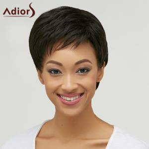 Short Straight Side Bang Boy Cut Heat Resistant Fiber Wig