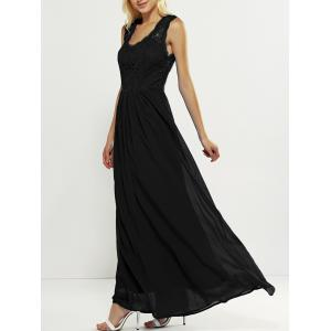 Maxi Lace Panel Long Swing Wedding Guest Dress
