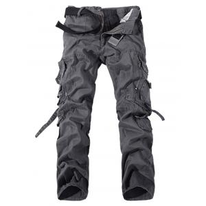 Plus Size Buckle Strap Cargo Pants