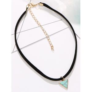 Faux Rammel Triangle Choker Necklace -