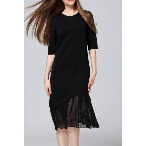 Pleated Sweater Midi Dress - Black - One Size(fit Size Xs To M)