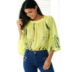 Off-The-Shoulder Ink-Painting Blouse -