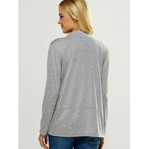 Casual Pocket Design Loose Fitting Cardigan - GRAY XL