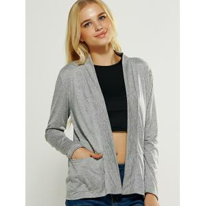 Casual Pocket Design Loose Fitting Cardigan -
