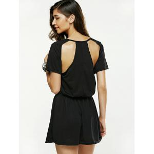 Hollow Out Backless Mini Dress -
