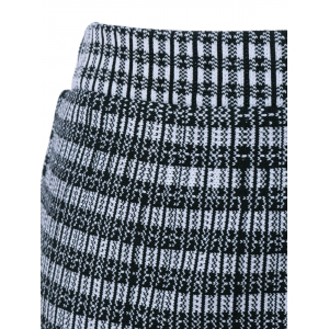 Pinstriped Knit Fishtail Skirt -