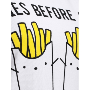 Chic Fries Pattern Spliced Women's T-Shirt -