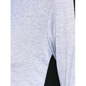 Hooded Color Block Top with Running Jogger -