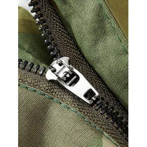 Camouflage Zipper Fly Straight Leg Multi-Pockets Embellished Pants -