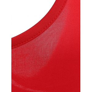 Chic Plunging Neck Red One Piece Swimwear For Women - RED S