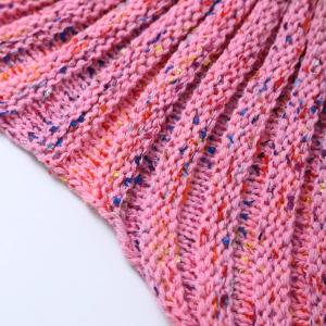 Photography Prop or Sofa Knitted Mermaid Blanket - PINK