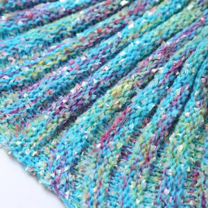 Simple Color Block Nifty Photography or Sofa Knitted Mermaid Blanket -