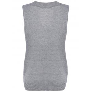Ribbed Solid Color Knitted Tank Top -