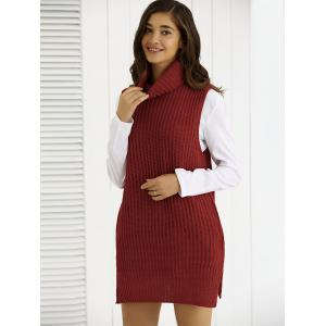 Cowl Collar Pocket Design Ribbed Knitwear -