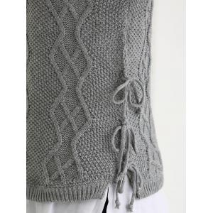Turtle Neck Ribbed Knitting Tank Top -