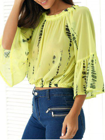 Best Off-The-Shoulder Ink-Painting Blouse
