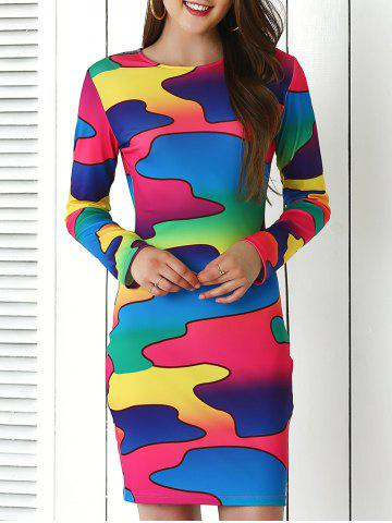 Outfits Brief Colorful Print Bodycon Dress