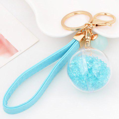Store PU Rope Lucency Ball Hang Decorative Keyring