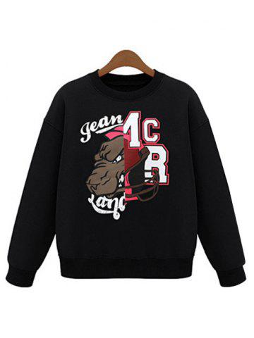 Trendy Cartoon Pattern Letter Print Sweatshirt