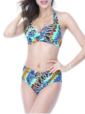 Outfits Halter Colormix Lace-Up Bikini Set COLORMIX 6XL