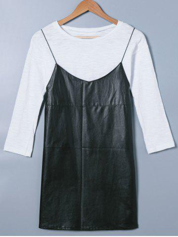 Affordable Long Sleeve T-Shirt and Cami Dress