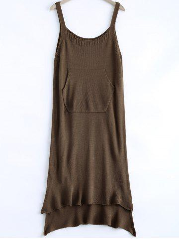 Chic Casual High Low Knitted Dress