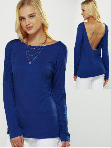Outfit Backless Drop Shoulder T-Shirt