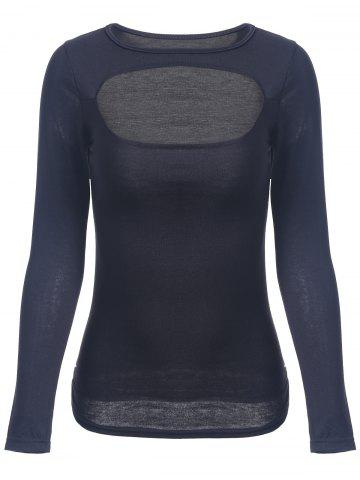 Best Slimming Long Sleeve Cut Out Top