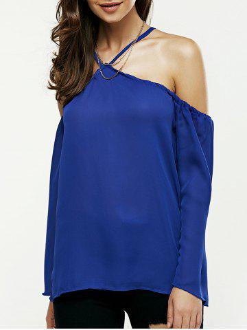 Outfit Off The Shoulder Loose Chiffon Blouse