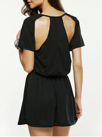 Discount Hollow Out Backless Mini Dress