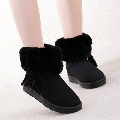 Discount Furry Tassels Snow Boots