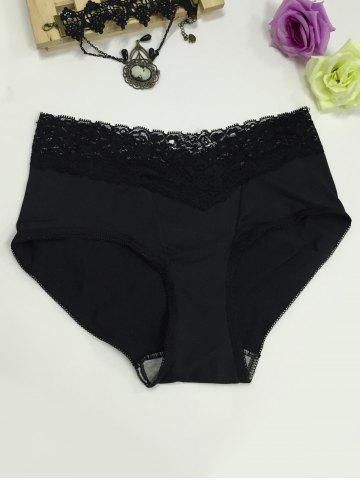 Fashion Lace Panel High Waisted Briefs