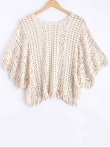 Shop Tassel Embellished Openwork Blouse