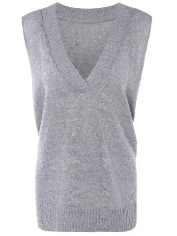 Outfits Ribbed Solid Color Knitted Tank Top