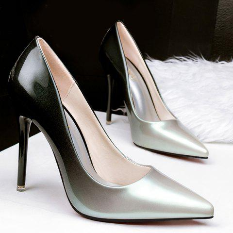 Best Stiletto Heel Pointed Toe Gradient Color Pumps