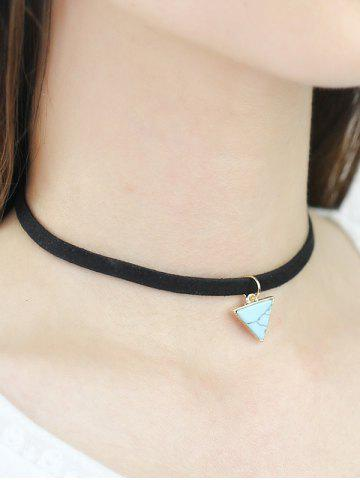 Fashion Faux Rammel Triangle Choker Necklace
