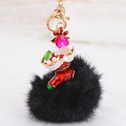 Christmas Shoes Chuzzle Faux Gem and Pearl Decorative Keyring -