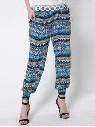 Printed Illusion Loose Harem Pants