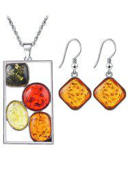 Faux Crystal Insect Geometric Jewelry Set -