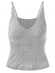 Brief Style V Neck Knit Tank Top -