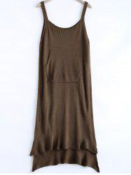 Casual High Low Knitted Dress -