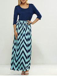 Zig Zag Striped Maxi Dress