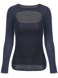 Slimming Long Sleeve Cut Out Top -