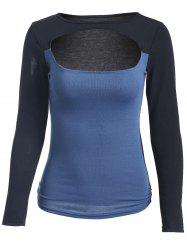 Slimming Long Sleeve Cut Out Top