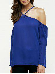 Off The Shoulder Loose Chiffon Blouse -