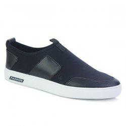 PU Splice Slip-On Casual Shoes -