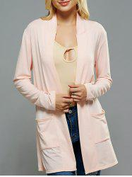 Casual Pocket Design Long Cardigan