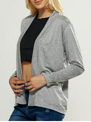 Casual Pocket Design Loose Fitting Cardigan - GRAY