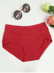 High Waist Stretchy Briefs - RED 4XL